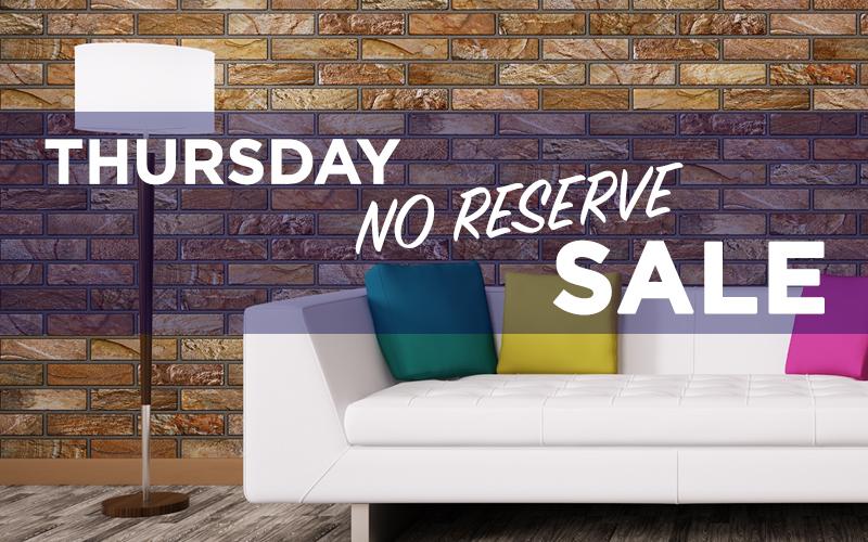 Thursday No Reserve Sale