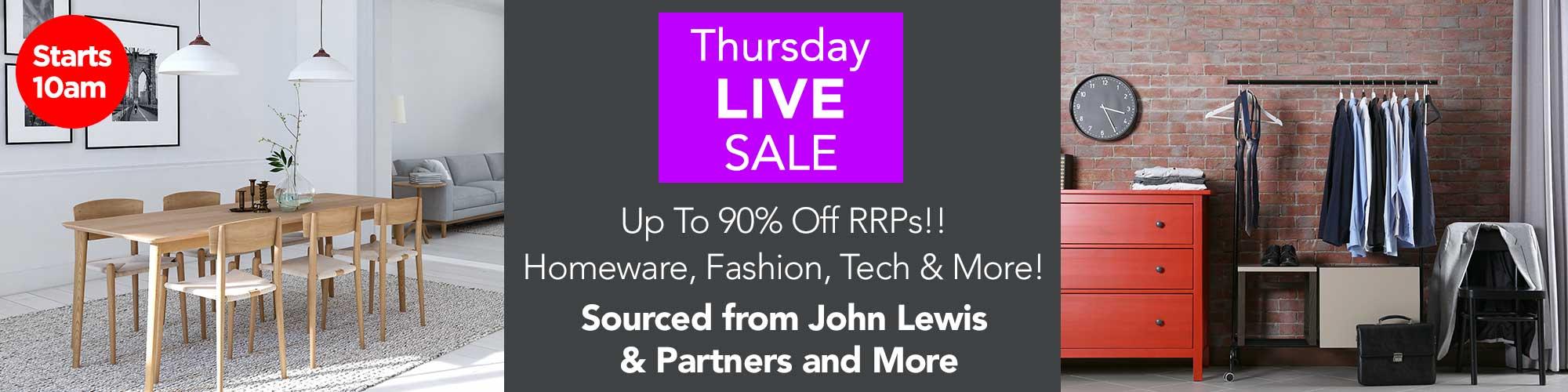 Thursday Live Mega Sale! Bid from 10am sharp!!