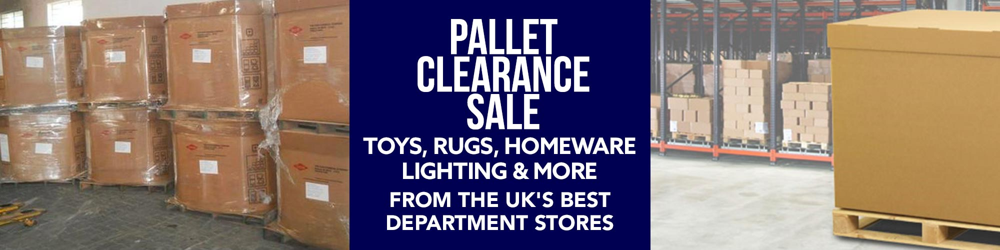 Pallet Clearance Sale, All Stock Must Go!
