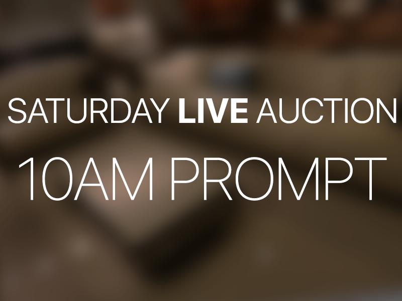Saturday LIVE Auction | 04/04/20