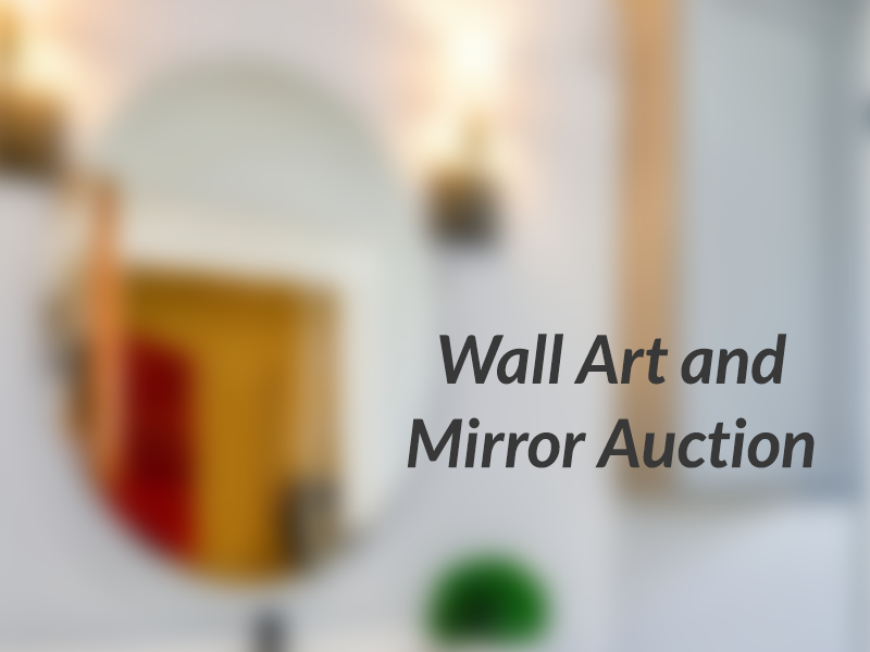 Wall Art and Mirror Auction