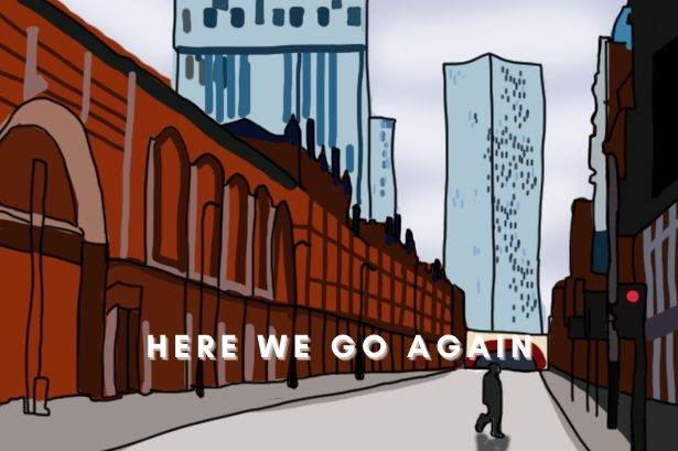 digital drawing of empty manchester